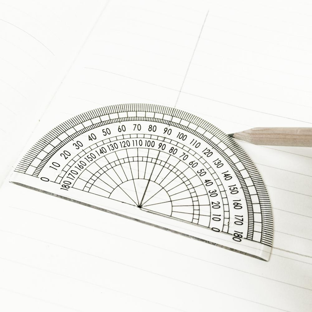 10pcs Plastic Protractors 180 Degree Protractor Angle Protractor Tool For Students School Stationery Math Ruler Supplies