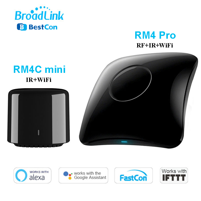 Broadlink RM4 Pro Rm4C Mini WiFi IR RF Smart Home Automation Universal Intelligent Remote Controller Work With Alexa Google Home