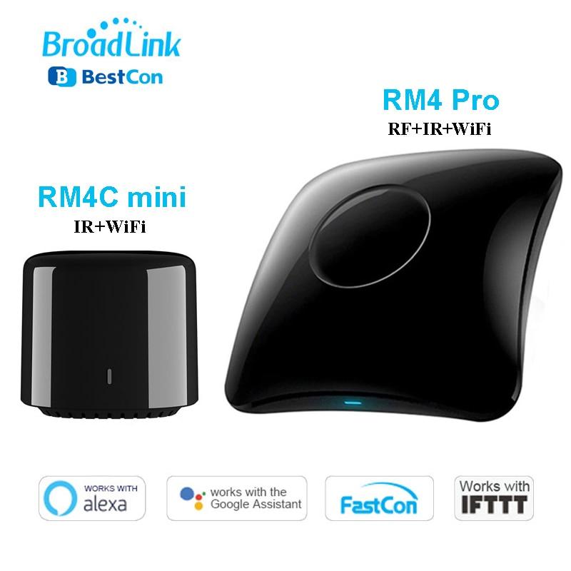 Broadlink RM4 Pro Rm4C Mini WiFi IR RF Smart Home Automation Universal Intelligent Remote Controller Work With Alexa Google Home