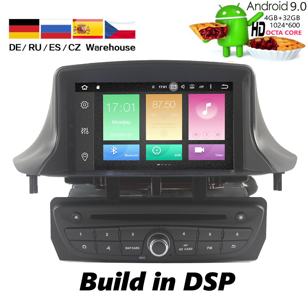 HIRIOT Android 10 Car Stereo DVD Player <font><b>GPS</b></font> Navigation for Renault <font><b>Megane</b></font> <font><b>3</b></font> Fluence DSP 4GB+64G Video Multimedia Radio headunit image