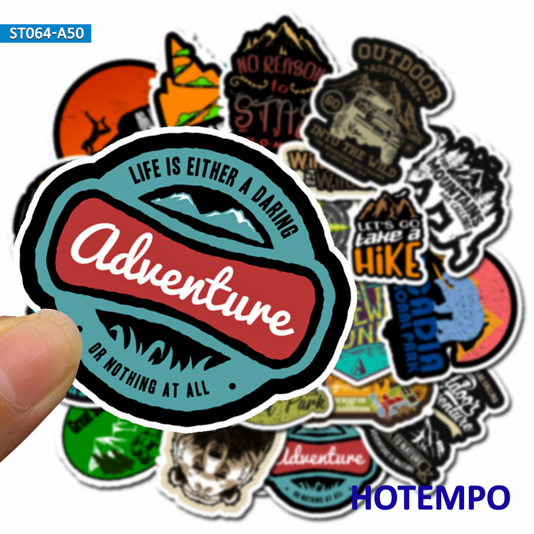 50 Pack Outdoor Adventure Hiking Trolley Case Skateboard Notebook Sticker Lldty
