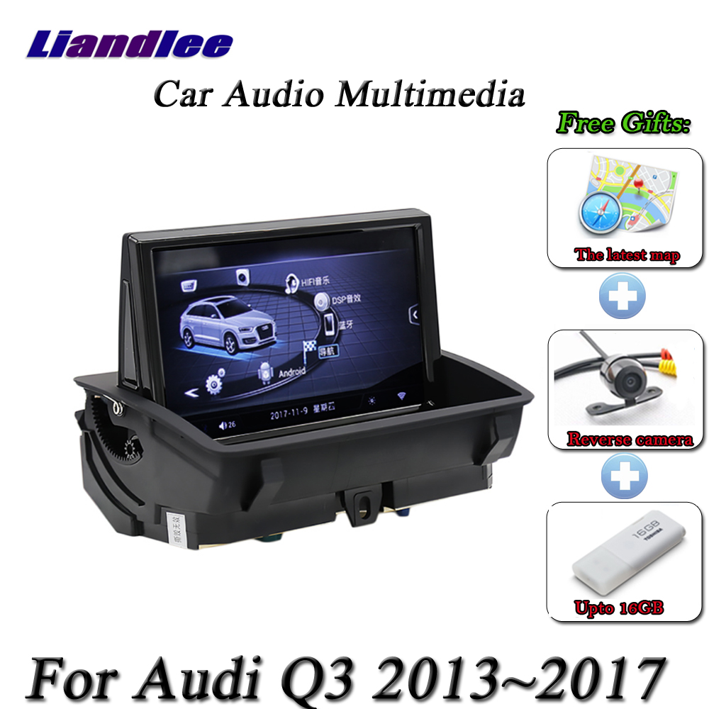 Image 2 - For Audi RS Q3 2013 2014 2015 2016 2017 Car Android Multimedia Player HD Touch Screen Radio AM FM RDS GPS Navigation SystemCar Multimedia Player   -