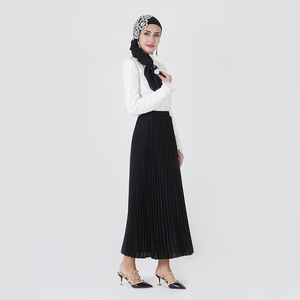 Image 2 - אלגנטי מוסלמי חולצות וחולצות נשים ארוך שרוול תחרה השפל חולצות משרד גבירותיי אביב חלול החוצה האסלאמי דובאי