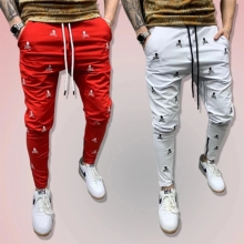 Autumn men's sports fitness pants outdoor running pants jogging pants gym fitness pants street wear fashion casual men's pants