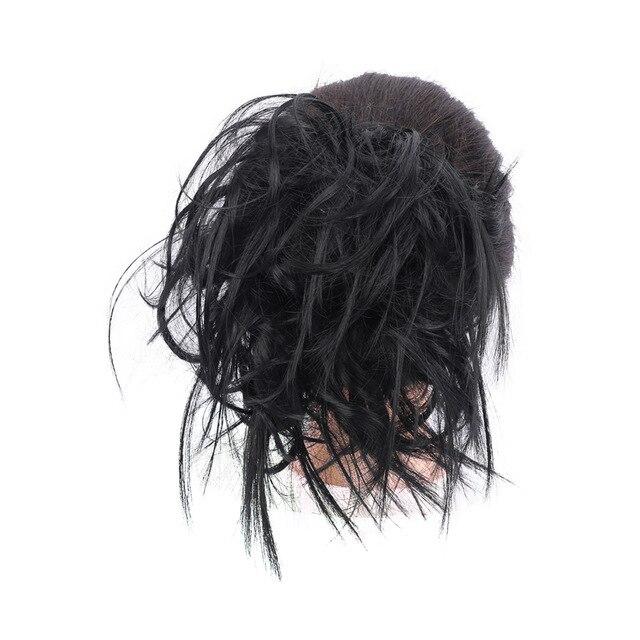 Lupu синтетические мягкие волосы кудрявый пучок женщин кудрявый Грязный серый коричневый цвет волос лента парик шиньон - Цвет: 1