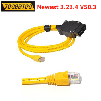 ENET Data Cable ESYS 3.23.4 V50.3 For BMW to OBD2 Interface For BMW F-series ESYS ICOM Coding ENET Diagnostic Cable image