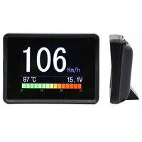 Digital Car Meter Auto 5 In 1 Water Temperature Voltmeter Odometer 2.4 Inch Speed Tachometer Multifunction Parts Gauge Tool