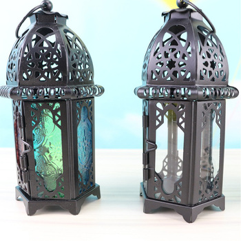 Classic Moroccan Windproof Candle Holder Votive Iron Glass Hanging Candlestick Lantern Party Home Wedding Church Decoration lantern cast iron lantern candle holder tealight holder lantern owl crafts table top crafts