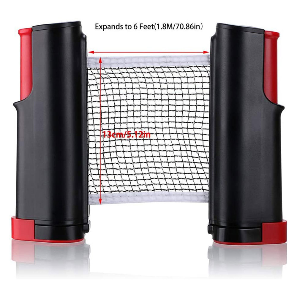 Portable Ping Pong Net Rack Retractable Table Tennis Net Rack Ping Pong Accessory Ping Pong Net Rack With 1Pair Table Tennis