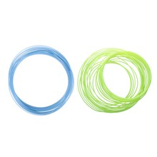 2Pcs 3D Printer Pen Filament 1.75mm PLA 10M(Glow in DarK Yellow PLA&Glow in DarK Blue PLA)(China)
