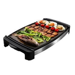 1800W electric grill pan Non-stick electric hotplate Korean style household electric baking pan smokeless barbecue grill machine