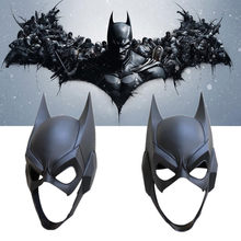 Hot New DC Movie Batman Mask Cosplay Props Cartoon Anime The Dark Knight Black Halloween Toy Mask(China)