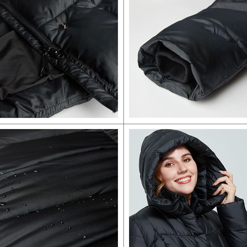 Astrid 2020 delle Nuove donne di Inverno cappotto lungo delle donne parka caldo Plaid di modo di spessore Giacca con cappuccio di grandi dimensioni abbigliamento femminile 9546