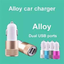 Small steel gun 2A Dual USB Car Charger aluminum metal dual-port car charger  for Xiaomi samsung iphone huawei