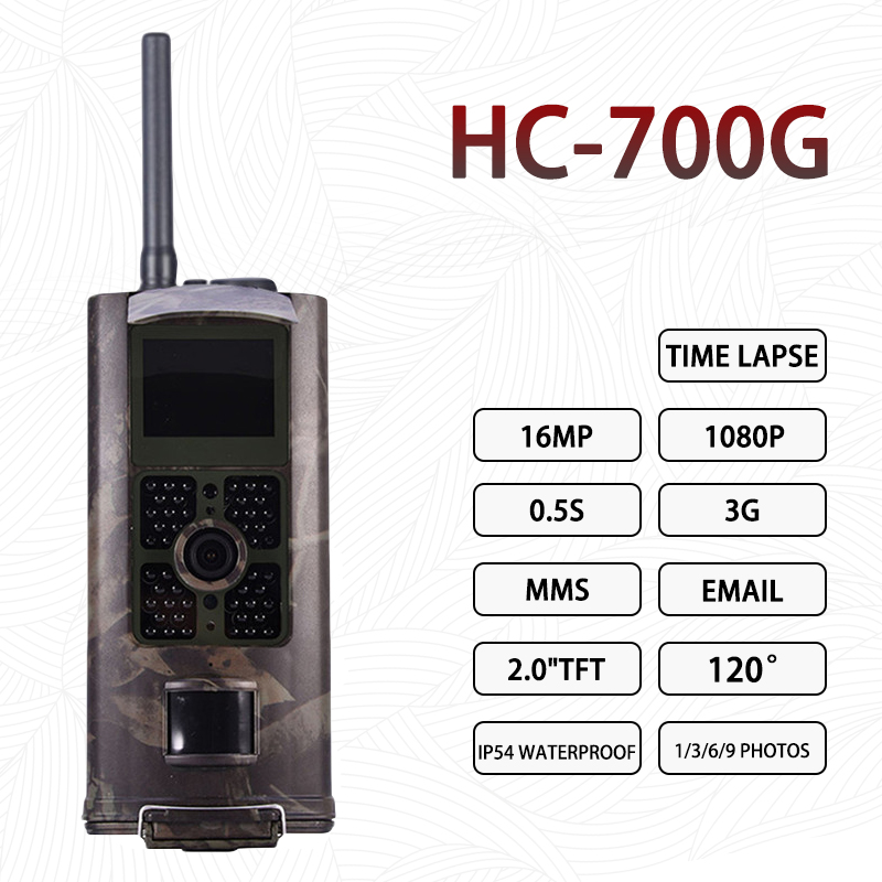 <font><b>HC</b></font> <font><b>700G</b></font> Hunting Camera 16MP 1080P 3G MMS Trail Camera Game Outdoor Wildlife Scouting Infrared Night Visio 940nm Photo Traps image