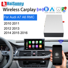 Bezprzewodowy Carplay dla Audi A6 C7 A7 RMC 2011 2012 2013 2015 2016 wsparcie Multimedia Voice nawigacja GPS Android Auto rewers modernizacja tanie tanio HaiSunny CN (pochodzenie) Double Din 6 5 256G Windows ce Dvd-r rw Dvd-ram Video cd Jpeg Aluminum 1024*600 Bluetooth Wbudowany gps