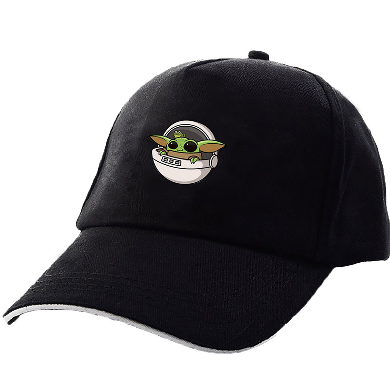Movie Star Wars Yoda Baby Hat Cosplay Hip-Hop Baseball Sun Cap Adjustable Size
