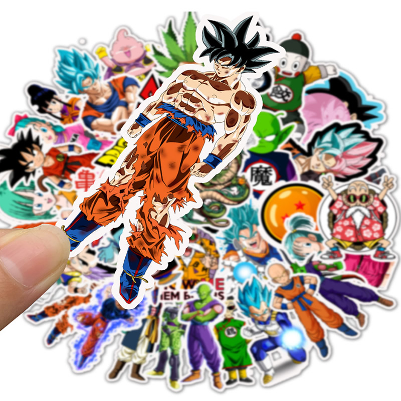 10/30/50pcs Anime DRAGON BALL Stickers Waterproof PVC Cartoon Skateboard Travel Bicycle Suitcase Motorcycle Funny Sticker Toys