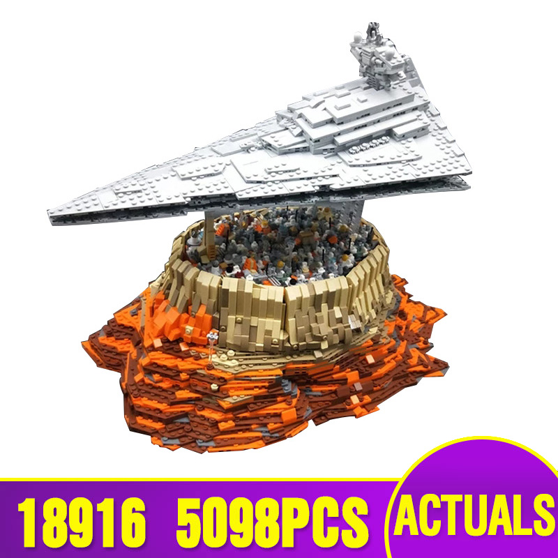 Star Toys War Compatible With Legoing MOC-18916 The Empire over Jedha City Building Blocks Assembly Kids Christmas Gifts Toys