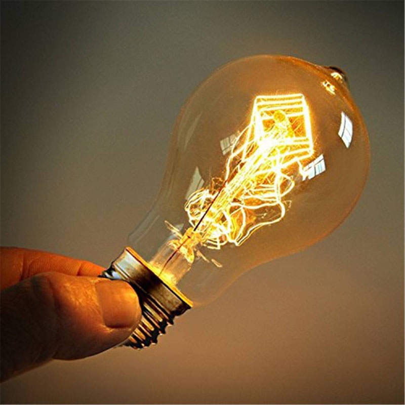 A19 Incandescent Bulbs Vintage Edison Light Bulbs E27 Antique Light Clear Glass 40W 110V/220V Lamp Home Decoration YU-Ho