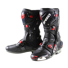 Botas de moto para hombre, zapatos de velocidad impermeables, botas altas para Motocross Dirt bike ADV Sport Touring