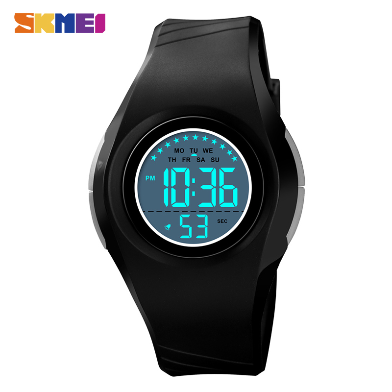 Relógios de Pulso para Meninos 5bar à Prova Skmei Crianças Relógio Digital Militar Cronógrafo Alarme Dwaterproof Água Esporte Meninas 1556