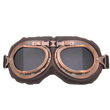 Retro Motorcycle Goggles Glasses Vintage Moto Classic Goggles for Harley Pilot Steampunk ATV Bike Copper Helmet motorcycle atv riding scooter driving flying protective frame clear lens portable vintage helmet goggles glasses for 2009 buell xb12r