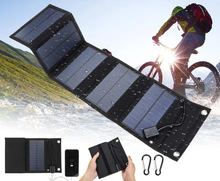 25W Solar Panel Foldable Portable Waterproof USB Energy Solar Cell Charger for iPhone iPad Macbook Huawei Camping