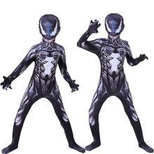 Costume d'halloween Venom avec masque, Costume Cosplay pour adultes et enfants, château noir, fête d'anniversaire, Costume spiderman pour hommes