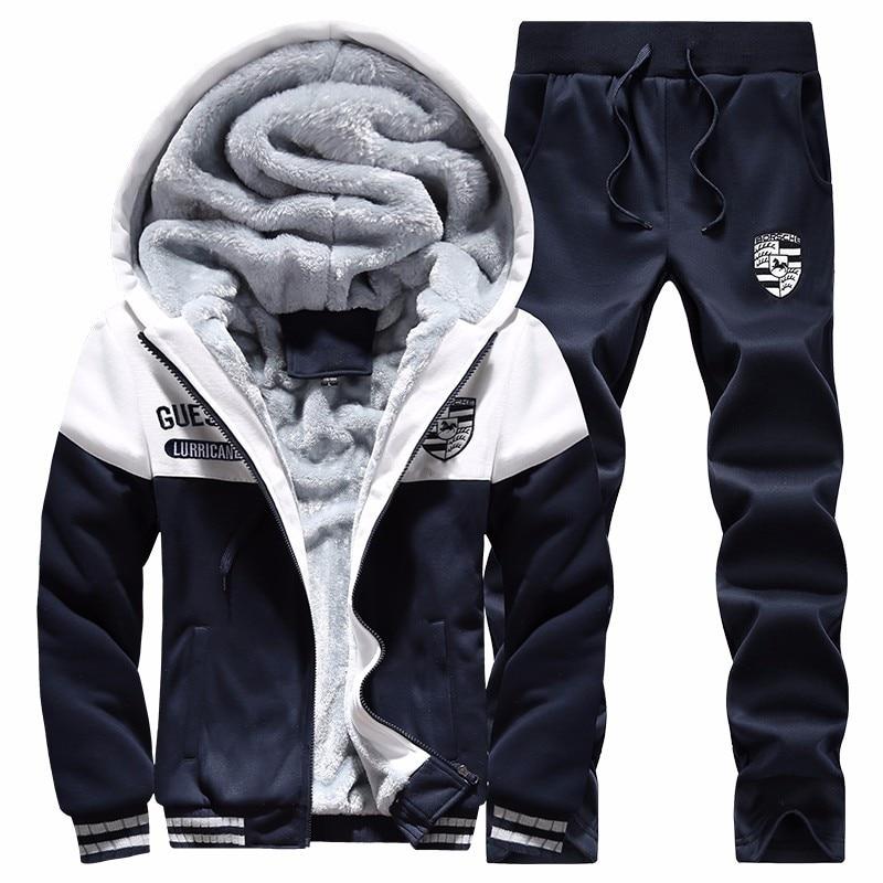 Men's Hooded Sweater Autumn & Winter Plus Velvet Sports Leisure Suit Students Couple Clothes Korean-style Coat Trend Men's Wear