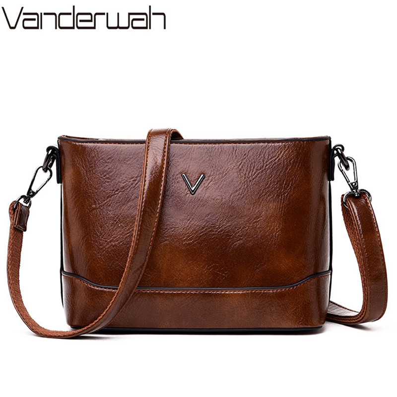 Summer New Female Chain Messenger Bags Solid Color Women Leather Shoulder Bags Sac A Main Vintage Crossbody Bags For Women 2019