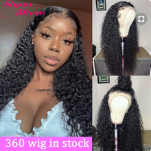 Siyun Show 360 Full Lace Wig Curly Lace Front Human Hair Wigs 30 inch 13X6 Lace Frontal Wig Curly Human Hair Wigs for Women