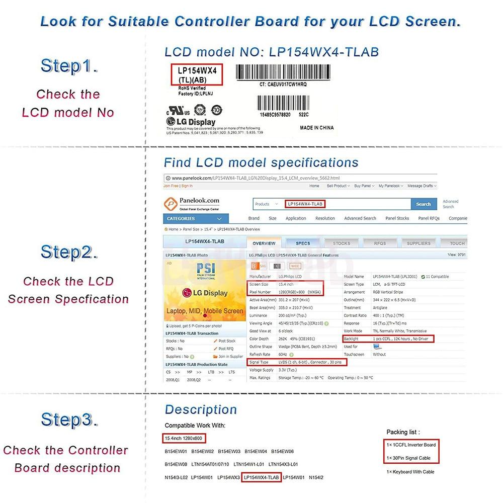 LCD LED screen Controller Board lvds Kit For TX39D80VC1GAA TV+HDMI+VGA+USB