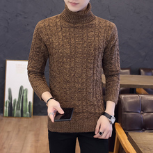 Fashion Turtleneck Sweater Men Spring Autumn Elasticity Pullover Warm Turtle Neck Solid Colors Sweater Korean Casual Classic solid turtle neck sweater