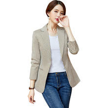 Blazer Feminino Stripe Slim Fit Women Long-sleeve Spring Autumn Office Lady Blazer Mujer 2019 Women Outwear HJJ801930 blazer feminino stripe slim fit women long sleeve spring autumn office lady blazer mujer 2019 women outwear hjj801930
