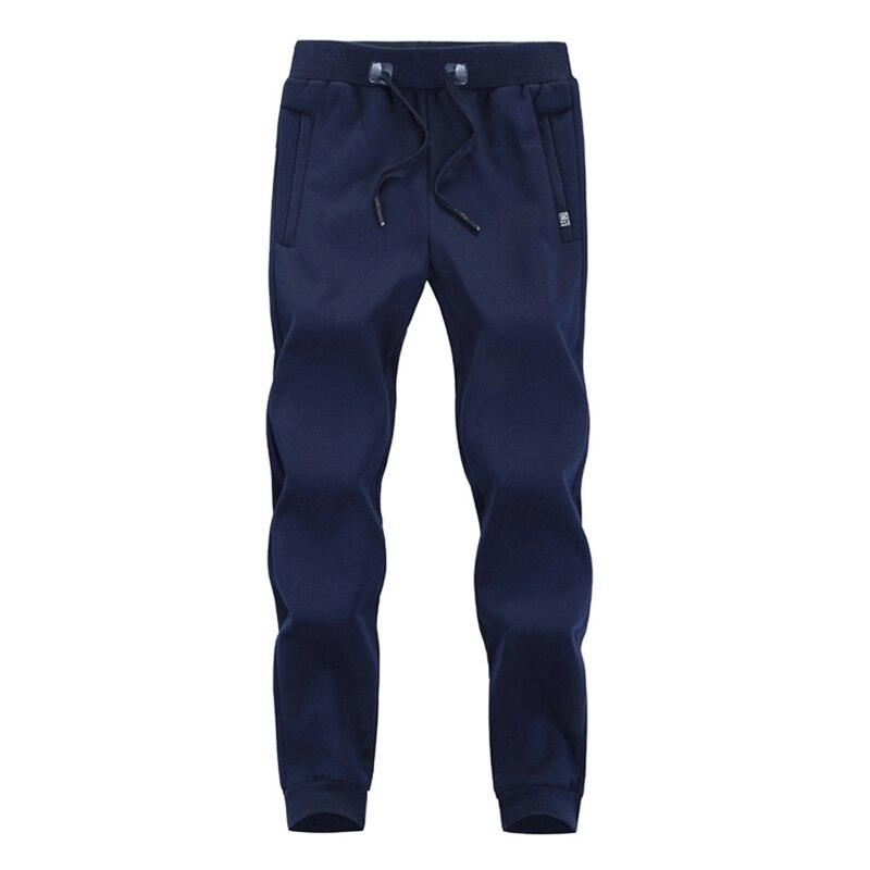 Зимние спортивные штаны для мужчин плюс бархатные теплые толстые теплые штаны из овчины мужские повседневные штаны 8XL 7XL 6XL 5XL - Цвет: Синий