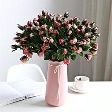 Artificial Flower| 46cm| 7 Heads| Single Branch| Pink Wild Rose| Home Decoration Wedding Scene Garden Plastic Flower Arrangement