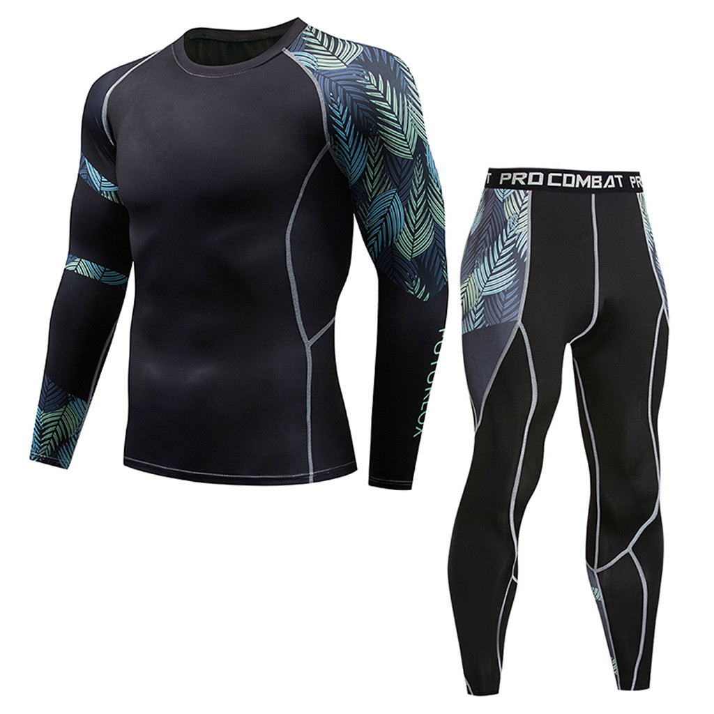 New Thermal Underwear Men Underwear Sets Clothing Quality Warm Quick Tracksuit Compression Drying Long Johns Men Underwear Jan10