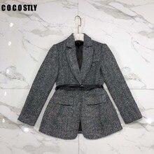 Winter Suits For Women Woolen Coats Single Breasted Restore Woolen Outwear Jacke
