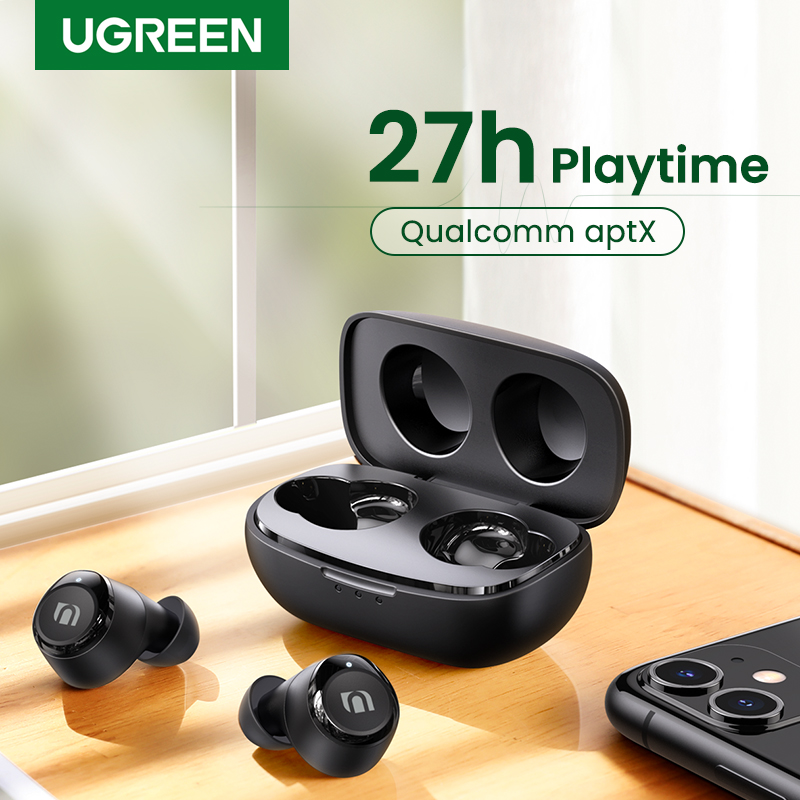 UGREEN TWS Wireless Bluetooth 5 0 Earphones Qualcomm aptX True Wireless Stereo Earbuds 27H Playtime USB-C Charging