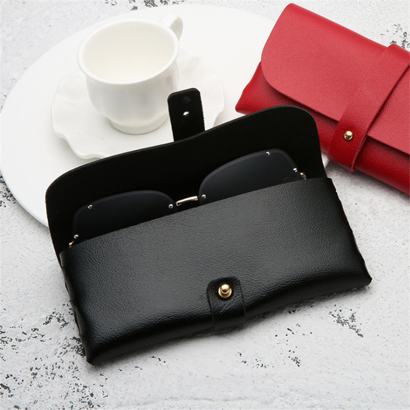 Portable PU Leather Glasses Case Sunglasses Holder Box Eyeglasses Storage Pouch Bag Cover Eyewear Accessories 1pc