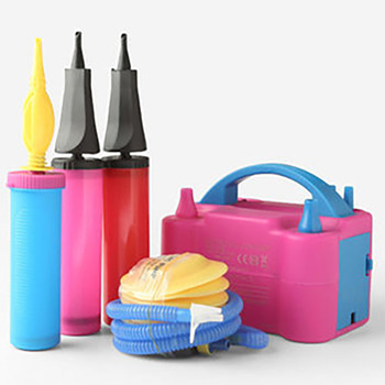 цена на Balloon Party electric balloon pump balloon accessories portable double nozzle inflator blower balloon party decoration supplies