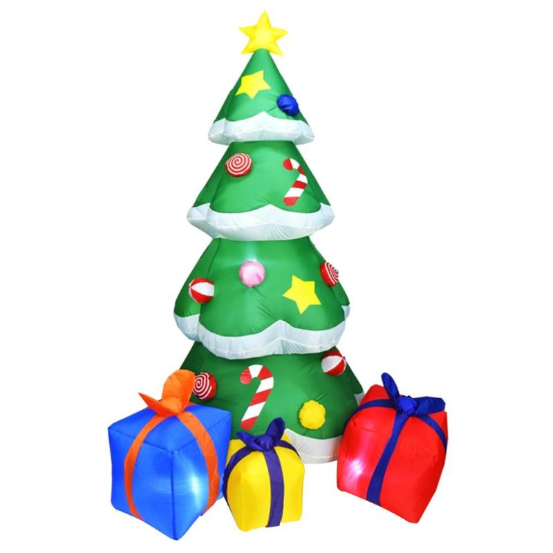 Image 2 - 1.5/2.1m Inflatable Christmas Tree 3D LED Christmas Decoration  For Home Outdoor Shop Display Window Decoration For ChristmasTrees   -