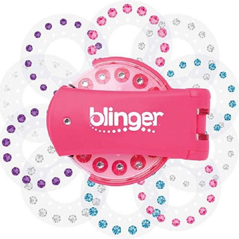Mode 180 gemmes Blingers ensemble de luxe jouet semblant jouer bijou recharge ensemble bricolage filles coiffure outil diamant autocollant jouets cadeaux