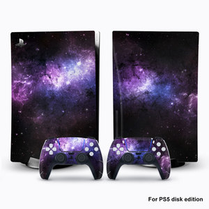 Image 1 - For PS5 Console Disk Edition Carbon Fiber Skin Decal Cover for PlayStation 5 Console Glaxy Sticker For PS5 Accessories