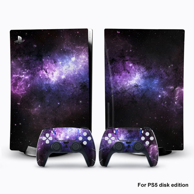 For PS5 Console Disk Edition Carbon Fiber Skin Decal Cover for PlayStation 5 Console Glaxy Sticker For PS5 Accessories