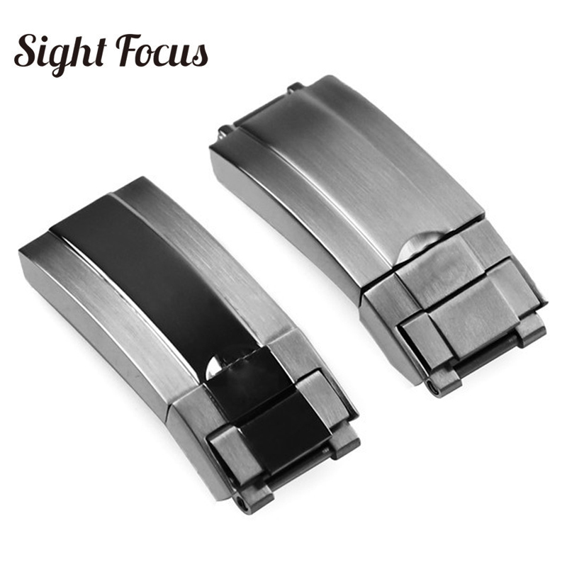 16x9mm Metal Stainless Steel Lock Watchband Deployment Clasp For Rolex Daytona Deepsea GMT Role Sub Wrist Strap Folding Buckle