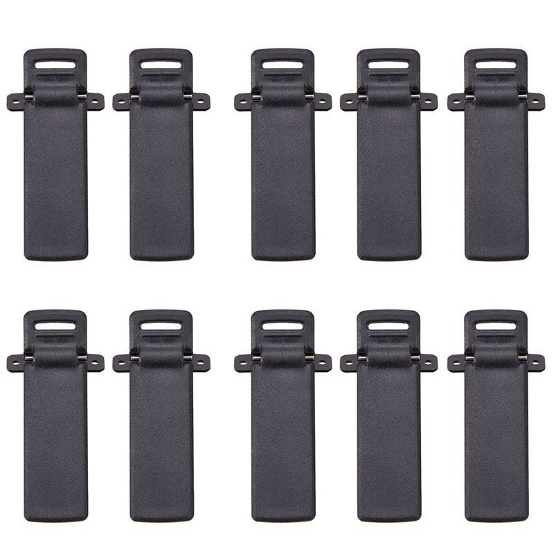 ABKK-10Pcs Walkie Talkie Clamps Spare Part Back Belt Clip For Baofeng 2-way Radio UV5R For Baofeng Intercom UV5R / 5RA / 5R + /