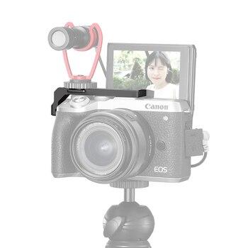 UURig R038 Dual de zapatos superventas de extensión de la cámara del soporte de montaje en Vlog micrófono luz LED extender soporte para M6 Mark II Cámara Accesorios
