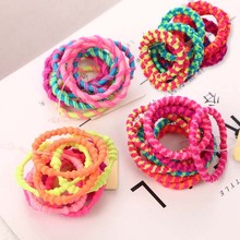 10pcs/Lot Kids Colorful Elastic Hair Bands Simple Girls Accessories scrunchie Ponytail Holder Tie Ropes Rubber Band